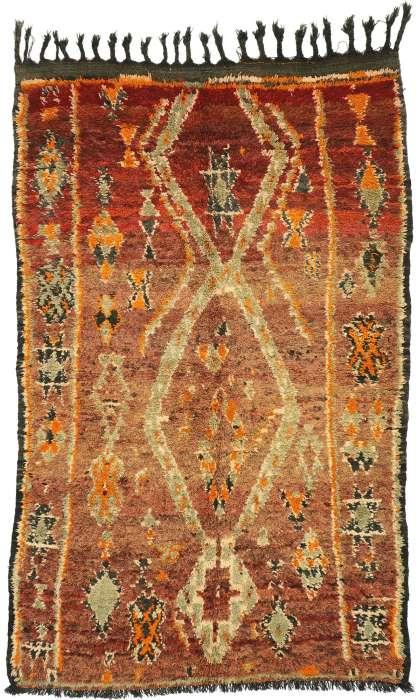 5 x 8 Vintage Moroccan Rug 20316