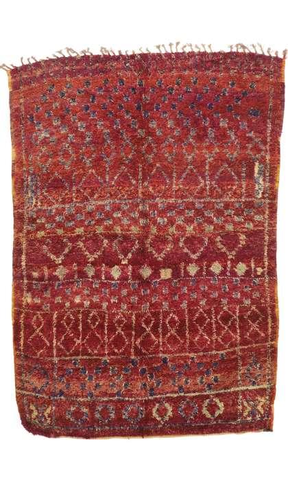7 x 10 Vintage Moroccan Rug 21051