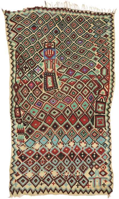 5 x 9 Vintage Moroccan Rug 21068