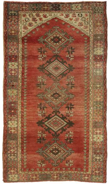 3 x 5 Vintage Oushak Rug 52777