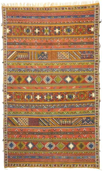 10 x 15 Vintage Moroccan Kilim Rug 20925