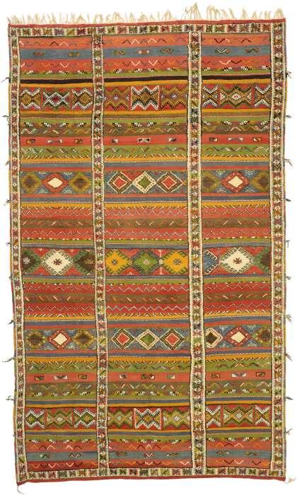 10 x 16 Vintage Moroccan Kilim Rug 20926