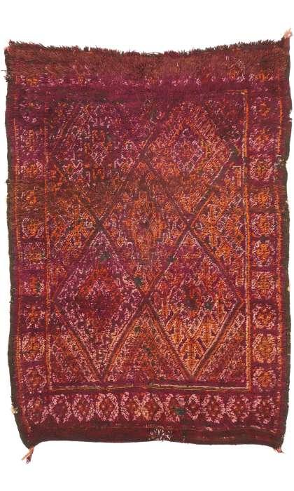 6 x 8 Vintage Moroccan Rug 20966