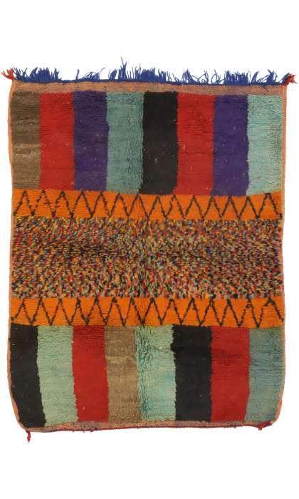 4 x 5 Vintage Moroccan Rug 21066