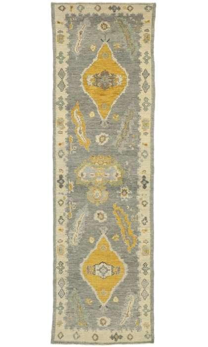 3 x 10 Contemporary Turkish Oushak Rug 52789