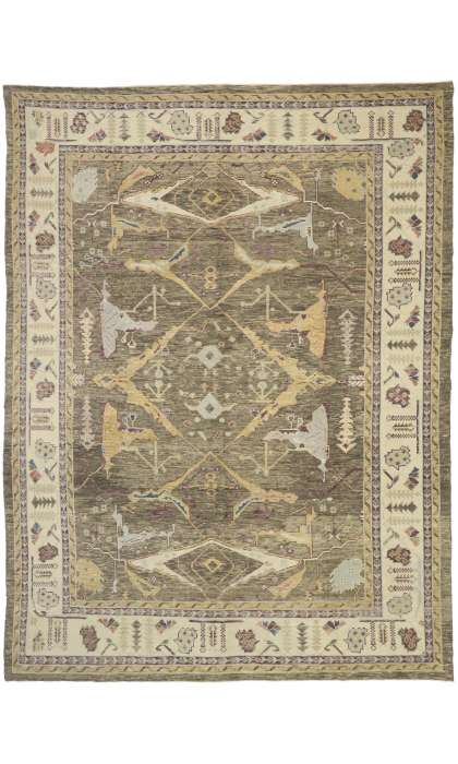 10 x 13 Contemporary Turkish Oushak Rug 52791
