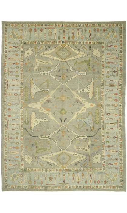 11 x 15 Contemporary Turkish Oushak Rug 52799