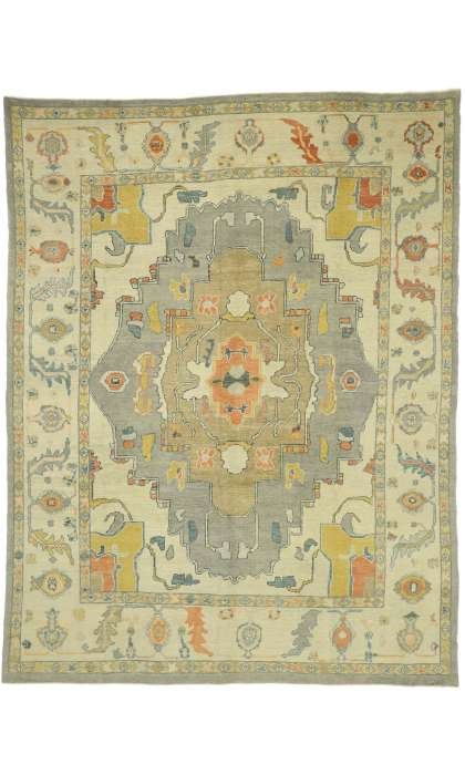 10 x 13 Turkish Oushak Rug 52800