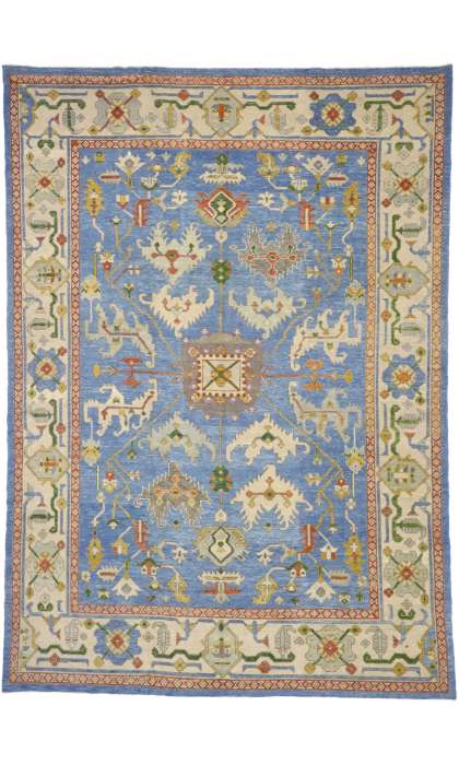 10 x 14 Contemporary Turkish Oushak Rug 52811