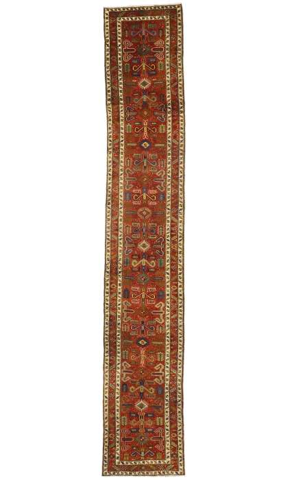 3 x 18 Antique Heriz Rug 77399