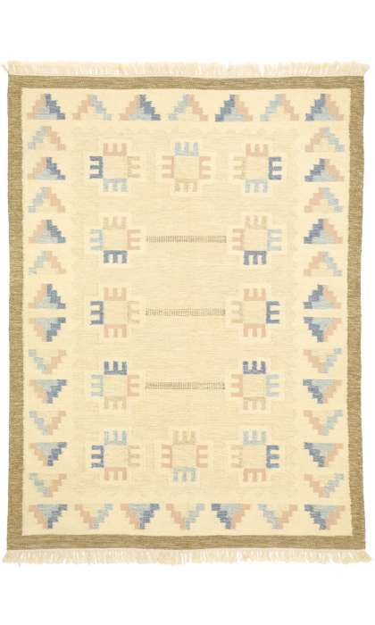 6 x 8 Vintage Swedish Kilim Rug 77404