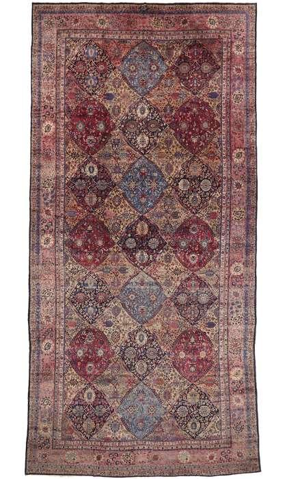 11 x 23 Antique Kerman Rug 76837