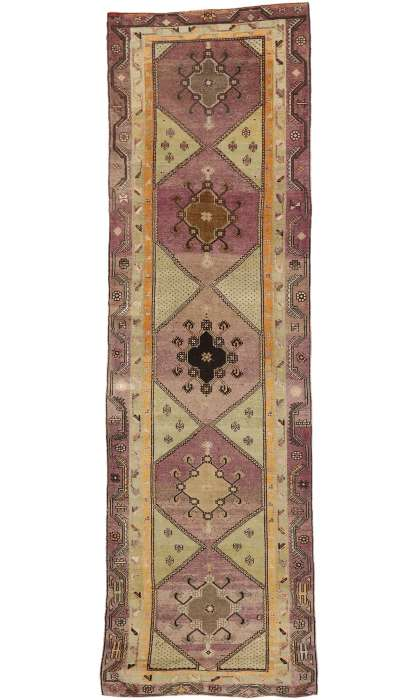 6 x 18 Vintage Turkish Oushak Rug 52169
