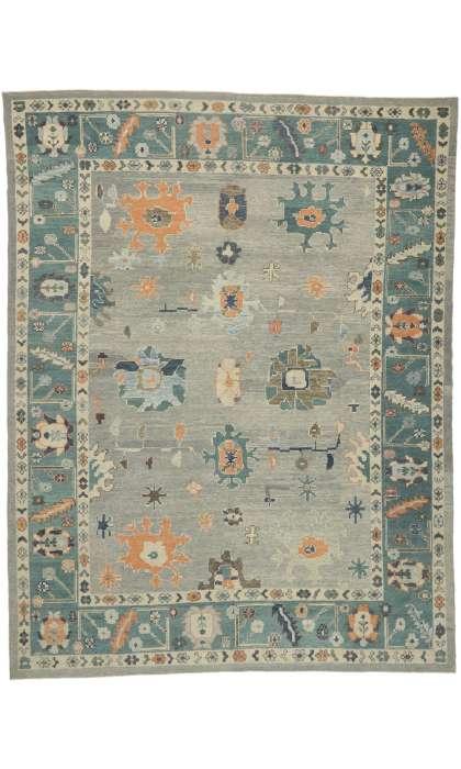 12 x 16 Contemporary Turkish Oushak Rug 52812