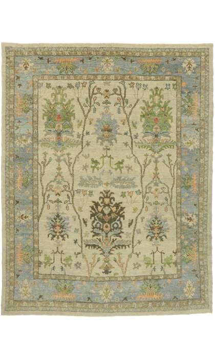 10 x 12 Contemporary Turkish Oushak Rug 52815