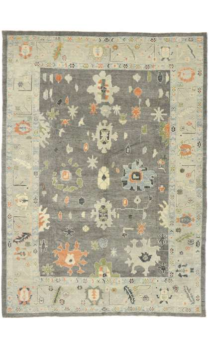 9 x 12 Contemporary Turkish Oushak Rug 52829