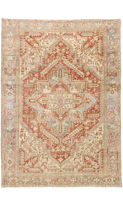 8 x 11 Antique Persian Heriz Rug 52854