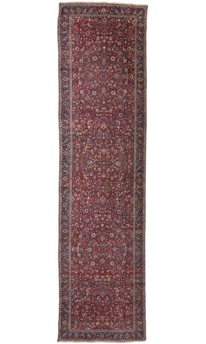 5 x 21 Antique Persian Mashad Runner 74289