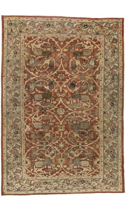 10 x 15 Distressed Persian Sultanabad Rug 74840