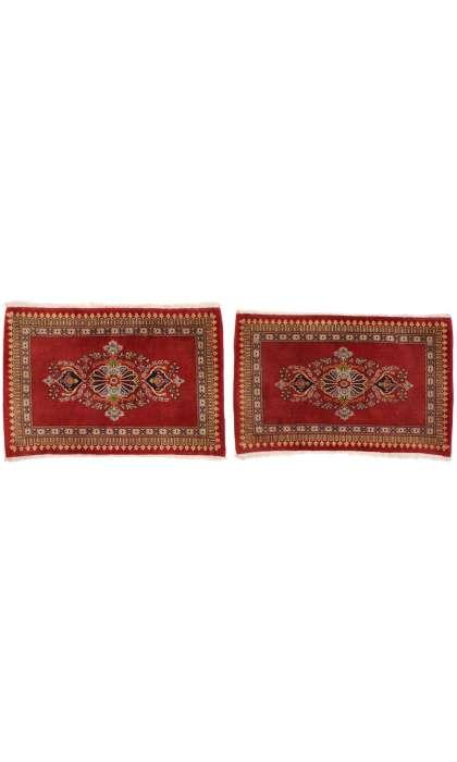 2 x 3 Vintage Persian Kashan Rug 76201