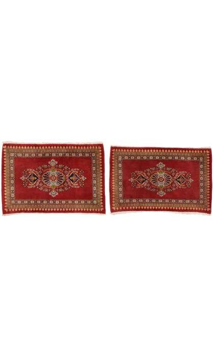 2 x 3 Vintage Persian Kashan Rug 76202