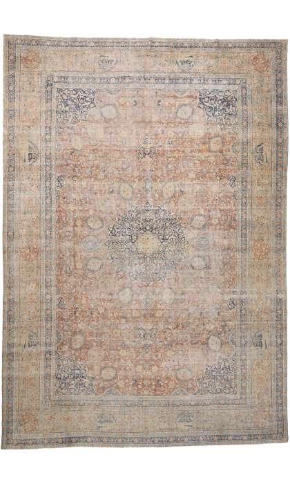 15 x 22 Antique Persian Tabriz Rug 76692