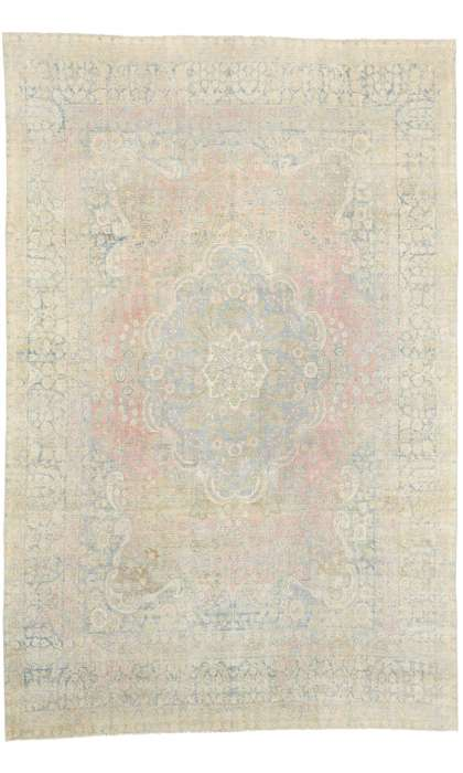 11 x 16 Antique Yazd Rug 76889