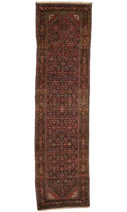 4 x 14 Antique Hamadan Rug 77052