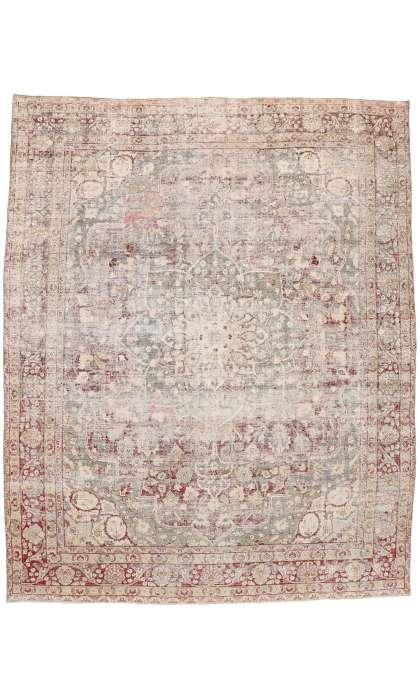 12 x 15 Antique Persian Tabriz Rug 77076