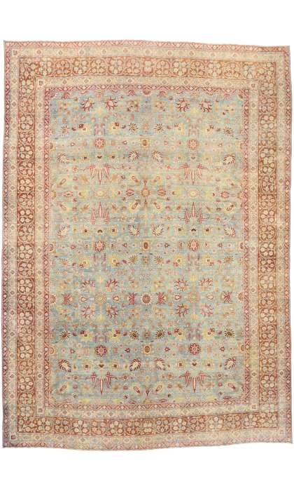 11 x 15 Antique Persian Kerman Rug 77258