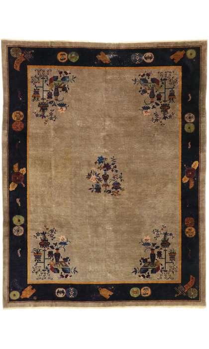 9 x 12 Antique Chinese Peking Rug 77407