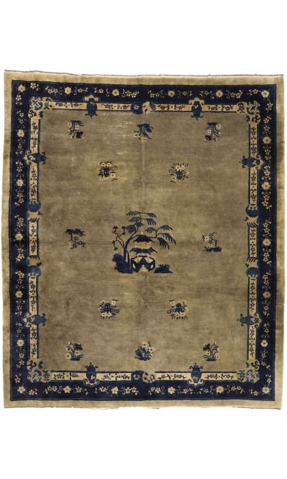 8 x 10 Antique Chinese Peking Rug 77408
