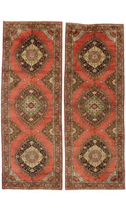 5 x 13 Vintage Turkish Oushak Rug 50985