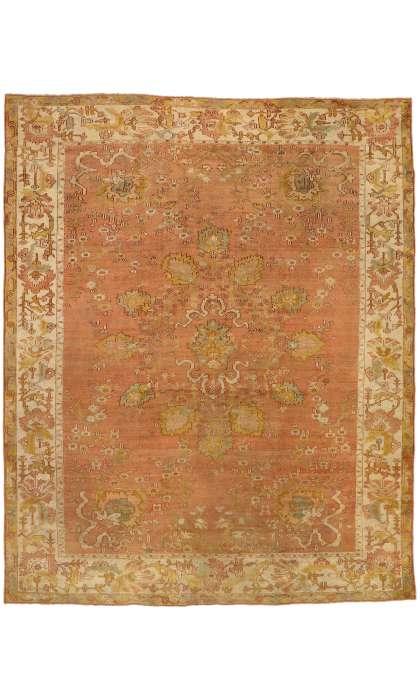 10 x 12 Antique Turkish Oushak Rug 51231