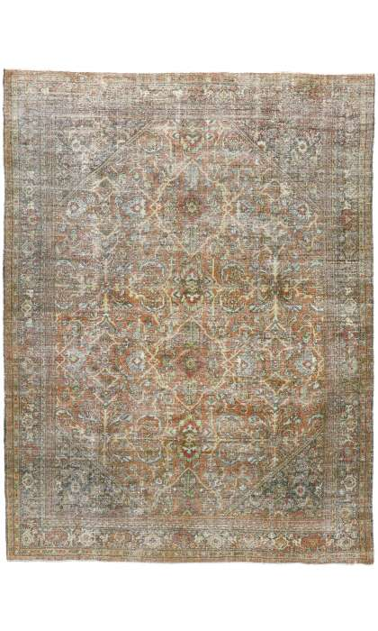 8 x 11 Antique Persian Mahal Rug 51522