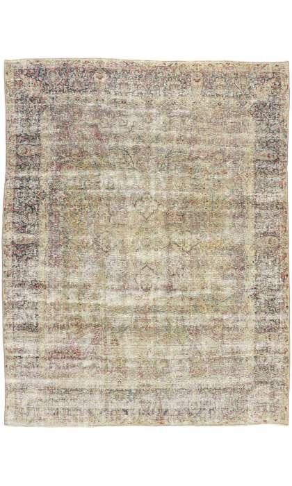 9 x 11 Antique Persian Kerman Rug 51525