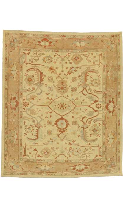 9 x 11 Contemporary Turkish Oushak Rug 51862