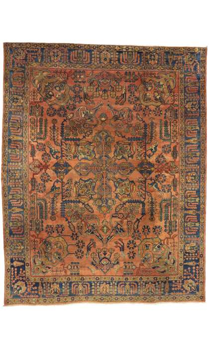 10 x 13 Antique Mahal Rug 71518