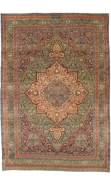 10 x 15 Antique Persian Kermanshah Rug 73364
