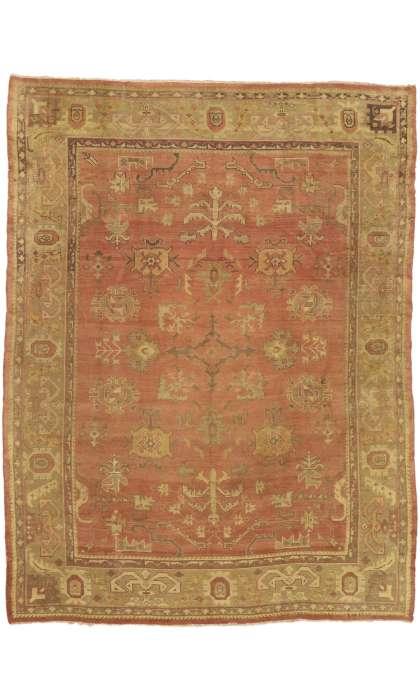 10 x 13 Antique Oushak Rug 73592