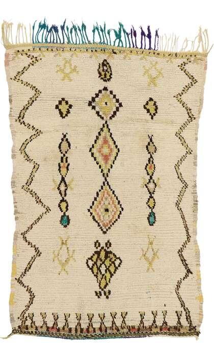 4 x 6 Vintage Moroccan Azilal Rug 74546