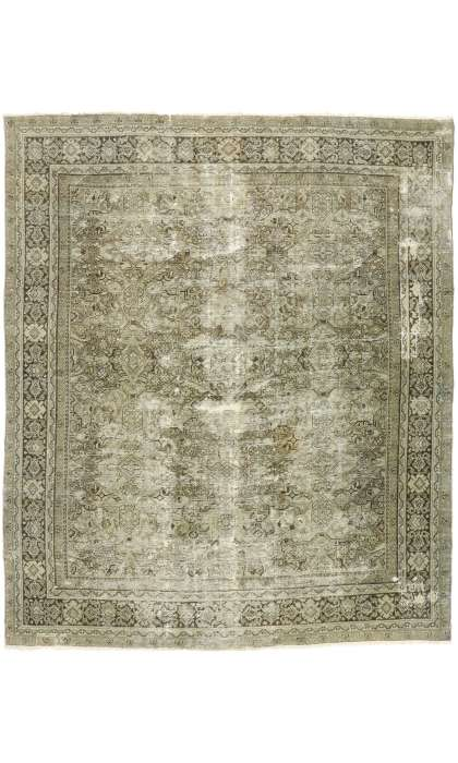 10 x 12 Distressed Mahal Rug 74575