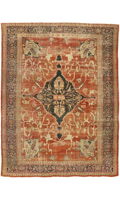10 x 13 Antique Persian Sultanabad Rug 74681