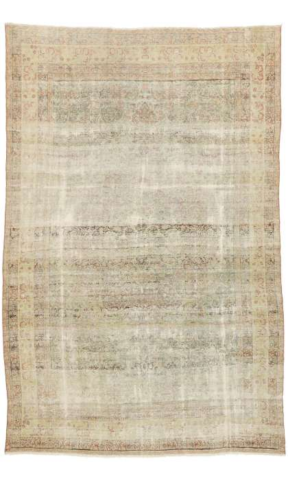 8 x 12 Distressed Persian Kerman Rug 74907