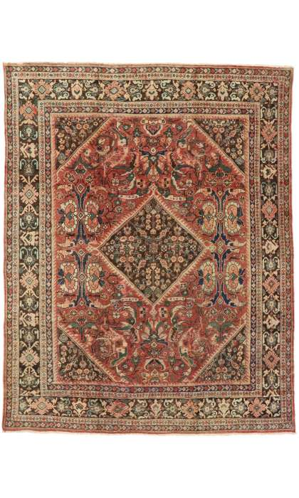 9 x 11 Antique Mahal Rug 75700