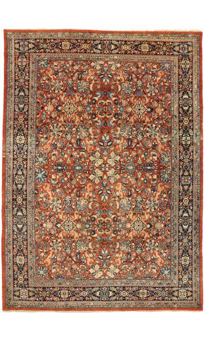 10 x 14 Antique Persian Mahal Rug 76710