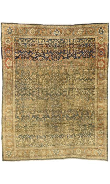 9 x 11 Antique Persian Mahal Rug 76861