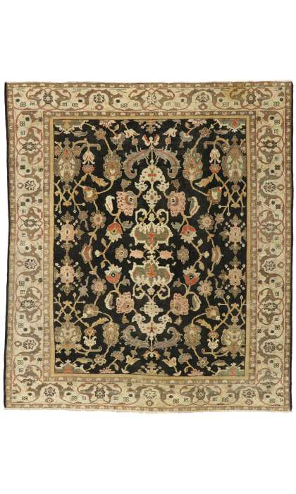 9 x 10 Antique Persian Sultanabad Rug 77104