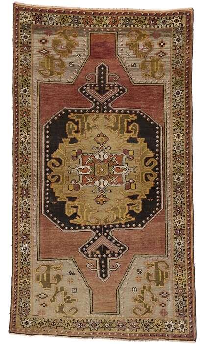 4 x 6 Vintage Turkish Oushak Rug 50164