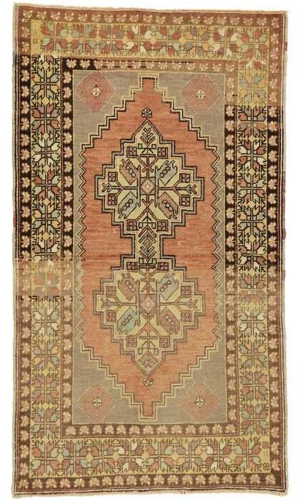 4 x 6 Vintage Oushak Rug 50172
